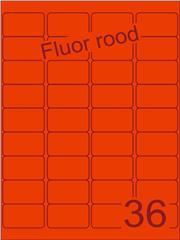 Etiket fluor rood 48,3x29,7mm (36) ds200vel A4