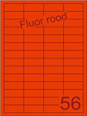 Etiket fluor rood 48x20mm (56) ds200vel A4