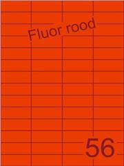 Etiket fluor rood 52,5x21,2mm (56) ds100vel A4