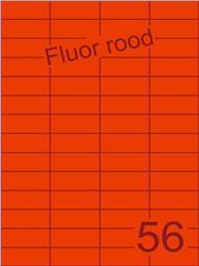 Etiket fluor rood 52,5x21,2mm (56) ds100vel A4