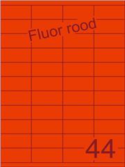 Etiket fluor rood 52,5x25,4mm (44) ds200vel A4