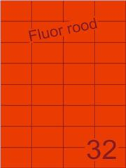 Etiket fluor rood 52,5x37,1mm (32) ds200vel A4
