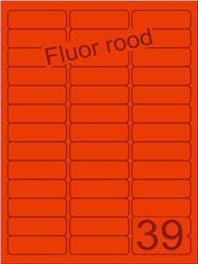 Etiket fluor rood 63,5x21,2mm (39) ds200vel A4