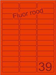 Etiket fluor rood 63,5x21,2mm (39) ds200vel A4