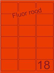 Etiket fluor rood 63,5x46,6mm (18) ds100vel A4