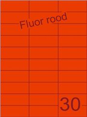 Etiket fluor rood 70x29,7mm (30) ds100vel A4