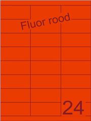 Etiket fluor rood 70x33,9mm (24) ds200vel A4
