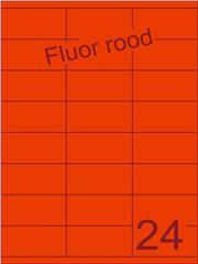 Etiket fluor rood 70x35mm (24) ds200vel A4 (SC62000074)