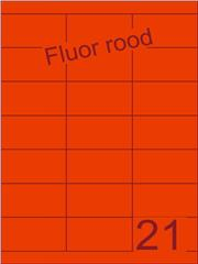 Etiket fluor rood 70x38,1mm (21) ds100vel A4