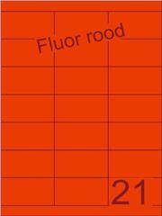 Etiket fluor rood 70x38,1mm (21) ds200vel A4