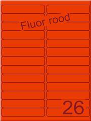 Etiket fluor rood 99,1x21,2mm (26) ds200vel A4