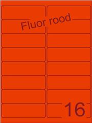 Etiket fluor rood 99,1x33,9mm (16) ds200vel A4