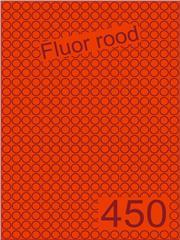 Etiket fluor rood rond ø9mm (450) ds200vel A4