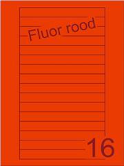 Etiket fluor rood Videolabels 145x17 (16) ds200vel A4