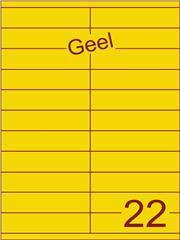 Etiket geel 105x25,4mm (22) ds200vel A4