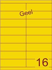 Etiket geel 105x33,9mm (16) ds100vel A4