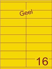 Etiket geel 105x35mm (16) ds100vel A4