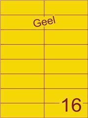 Etiket geel 105x37,1mm (16) ds100vel A4 (SC5620466)