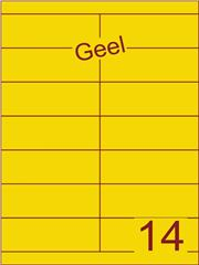 Etiket geel 105x38,1mm (14) ds100vel A4