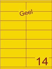 Etiket geel 105x40mm (14) ds200vel A4