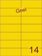 Etiket geel 105x42,4mm (14) ds100vel A4