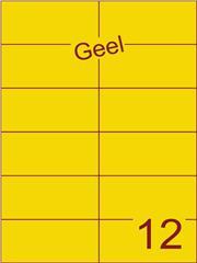 Etiket geel 105x49,5mm (12) ds200vel A4