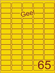 Etiket geel 38,1x21,2mm (65) ds100vel A4