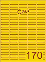 Etiket geel 38,1x8mm (170) ds200vel A4