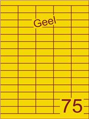 Etiket geel 40x18mm (75) ds200vel A4