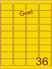 Etiket geel 48,3x29,7mm (36) ds200vel A4
