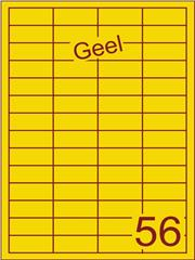 Etiket geel 48x20mm (56) ds200vel A4
