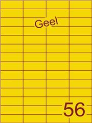 Etiket geel 52,5x21,2mm (56) ds100vel A4