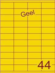 Etiket geel 52,5x25,4mm (44) ds100vel A4
