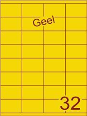 Etiket geel 52,5x35mm (32) ds100vel A4