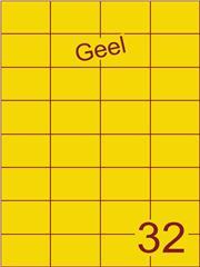 Etiket geel 52,5x37,1mm (32) ds200vel A4