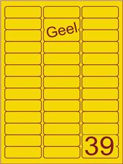 Etiket geel 63,5x21,2mm (39) ds200vel A4