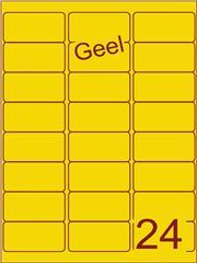 Etiket geel 63,5x33,9mm (24) ds100vel A4