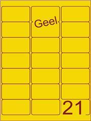 Etiket geel 63,5x38,1mm (21) ds100vel A4 (SC66000346)
