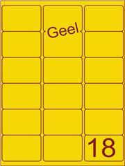 Etiket geel 63,5x46,6mm (18) ds100vel A4