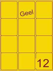 Etiket geel 63,5x72mm (12) ds200vel A4