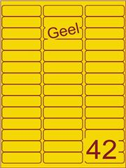 Etiket geel 65x20mm (42) ds200vel A4