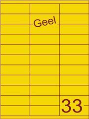 Etiket geel 70x25,4mm (33) ds100vel A4