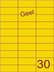 Etiket geel 70x29,7mm (30) ds100vel A4