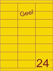 Etiket geel 70x33,9mm (24) ds200vel A4