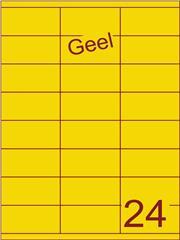 Etiket geel 70x35mm (24) ds100vel A4