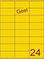 Etiket geel 70x36mm (24) ds100vel A4