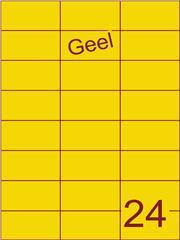 Etiket geel 70x37,1mm (24) ds100vel A4 (SC5620358)
