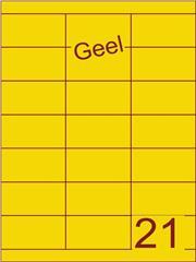 Etiket geel 70x38,1mm (21) ds100vel A4