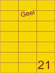 Etiket geel 70x42,4mm (21) ds100vel A4 (SC5620454)