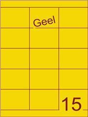 Etiket geel 70x52mm (15) ds200vel A4
